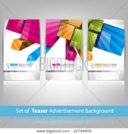eps10 vector teaser advertisement background