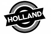 Holland Typographic Stamp. Typographic Sign, Badge Or Logo poster