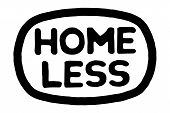 Homeless Typographic Stamp. Typographic Sign, Badge Or Logo poster