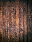 Brown Wooden Background. Old Vintage  Texture Of Bark Wood, Table Or Floor With Horizontal Dark Plan poster