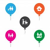 Set Of 5 People Icons Set. Collection Of Home, Shopping, People And Other Elements. poster