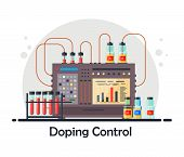 Anti-doping Laboratory For Blood, Urine Tests, Medical Equipment For Analysis And Doping Control Wit poster