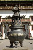 picture of bator  - A Buddhist urn in the Gandan monastery in Ulan Bator - JPG