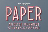 Decorative Vintage Paper Craft Typeface, Font, Typeface Design. Easy Swatch Color Control poster