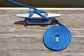 Boat Rope Tied To Dock