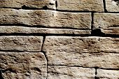 foto of porphyry  - rough and irregular stone - JPG