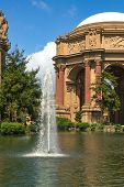 Palace Of Fine Arts At San Francisco Recreation And Parks, Usa. Exploratorium And Palace Of Fine Art poster