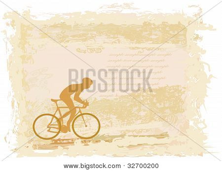 Cycling Grunge Poster Template , vector illustartion