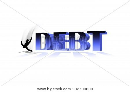 concept of falling into/out of debt
