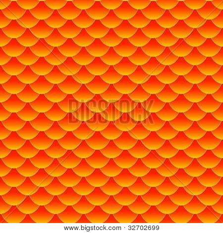 Seamless Small Goldfish Or Koi Fish Scale Pattern