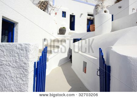 Street on the island of Santorini in Greece