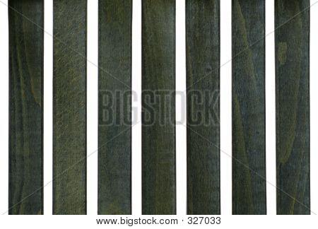 Blue Wood Slats