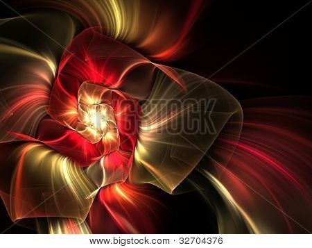 abstract futuristic illustration in black background