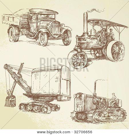 vintage work vehicles
