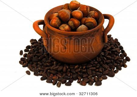 Pot  With Nuts