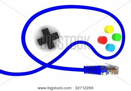 Network Cable In The Form Of A Joystick