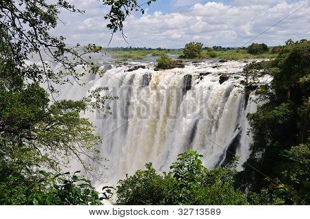 Victoria Falls, río Zambezi, África