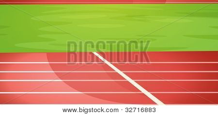 Illustration of a running track - EPS VECTOR format also available in my portfolio.