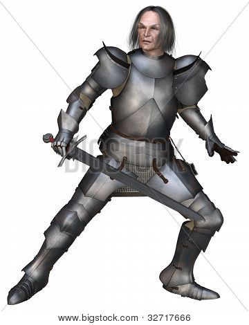 Elderly Mediaeval Knight Fighting