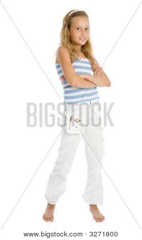 Barefoot Young Girl