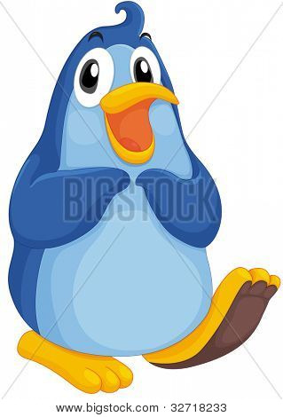 Cute penguin on a white background - EPS VECTOR format also available in my portfolio.
