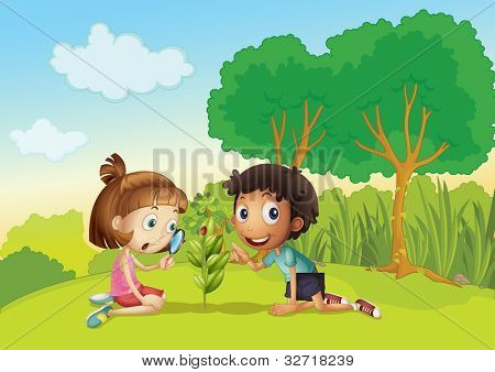 Science kids in the park - EPS VECTOR format also available in my portfolio.