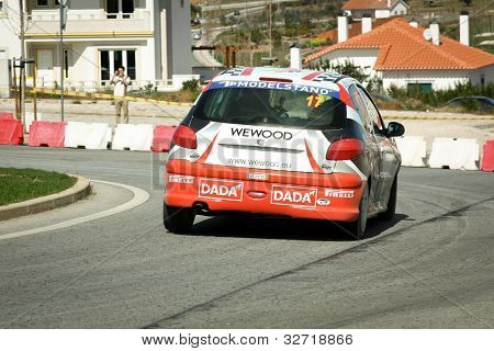 Castelo Branco, Portugal - March 10: Salvador Gonzaga Drives A Peugeot 206 Gti During Rally Castelo