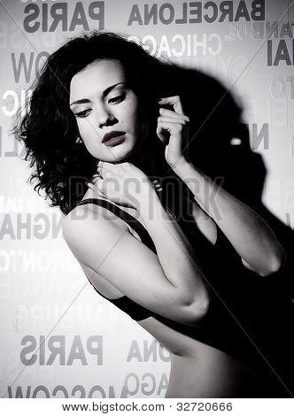 Beautiful woman in Filmstar style