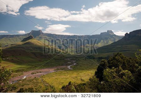Drakensberg mountains in South Africa
