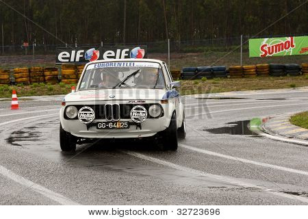 Leiria, Portugal - April 20: José Grosso Drives A Bmw 2002 During Day One Of Rally Verde Pino 2012