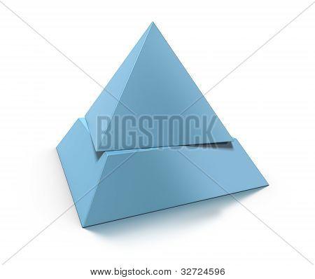 3d pyramid shape, 2 levels
