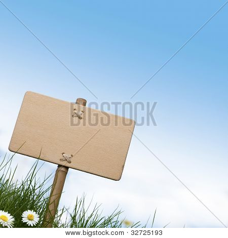 blank sign into nature