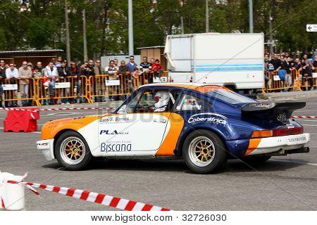 Leiria, Portugal - April 22: Valter Gomes Drives A Porsche 911 During Leiria City Slalom 2012, In Le