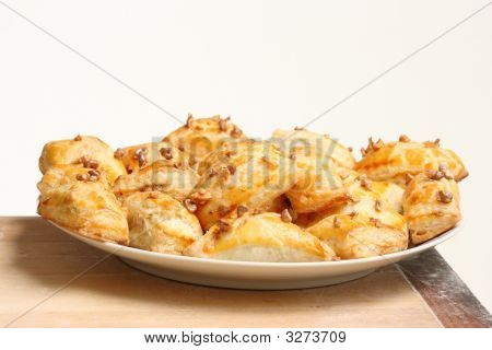 Puff Cakes On A Dish