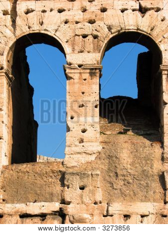 Arches In The Coliseum Rome