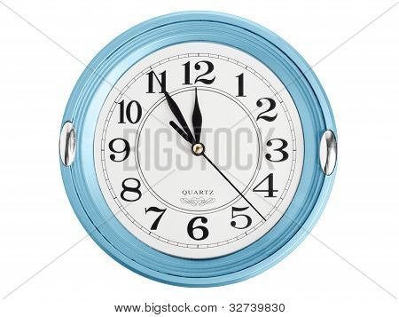 Blue Wall Clock