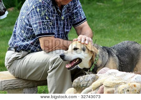 Older Man with Dog