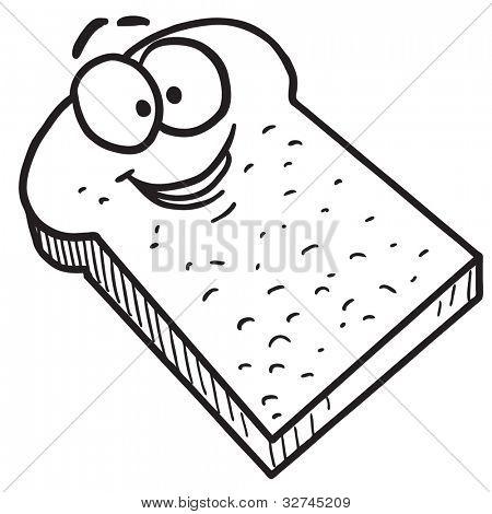 Cartoon toast bread