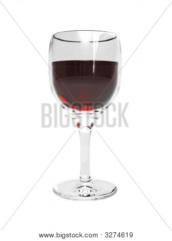 3D Wine Glass With Wine