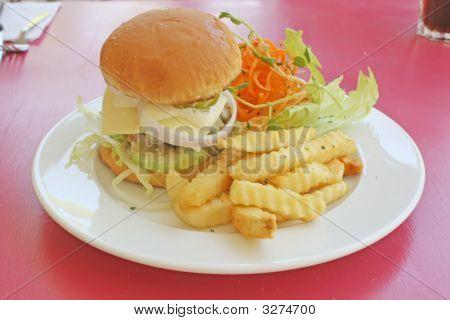Classy Restaurant Hamburger Meal