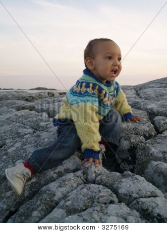 Baby On Rock