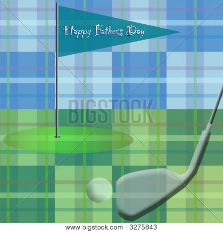 Golf On Plaid  Happy Fathers Day