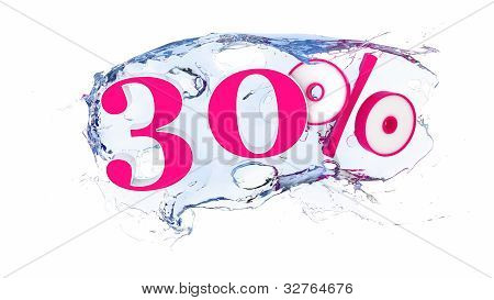 30 percent Summer Sale Or Discount Tags