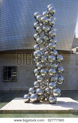 Sculpture eighty Balls Stainless Steel, Indian Artist Anish Kapoor