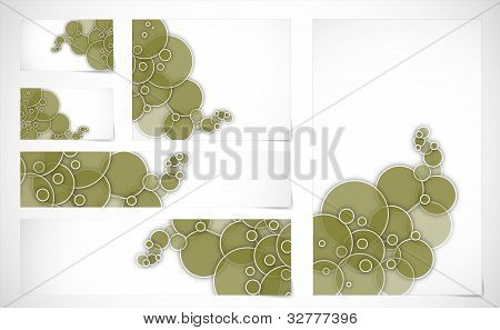 Banners And Business Cards With Abstract Background