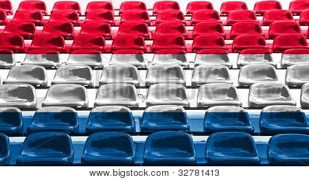 Netherlands Flag Pattern On Seat
