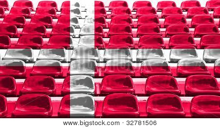 Denmark Flag Pattern On Seat