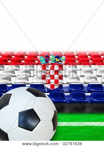 Croatia Flag Pattern On Seat