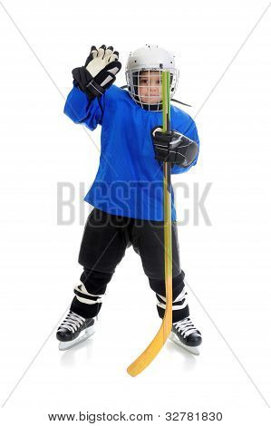 Little Boy Hockey Player
