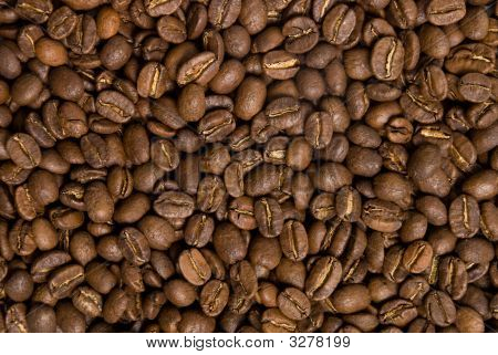 Brown Roasted Coffee Beans Background